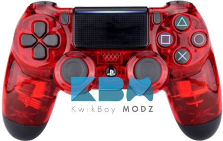 Transparent ps4 clear. Custom red ps controller