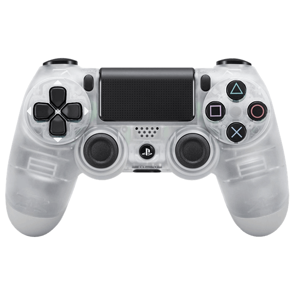 Transparent ps4 crystal. Playstation dualshock wireless controller