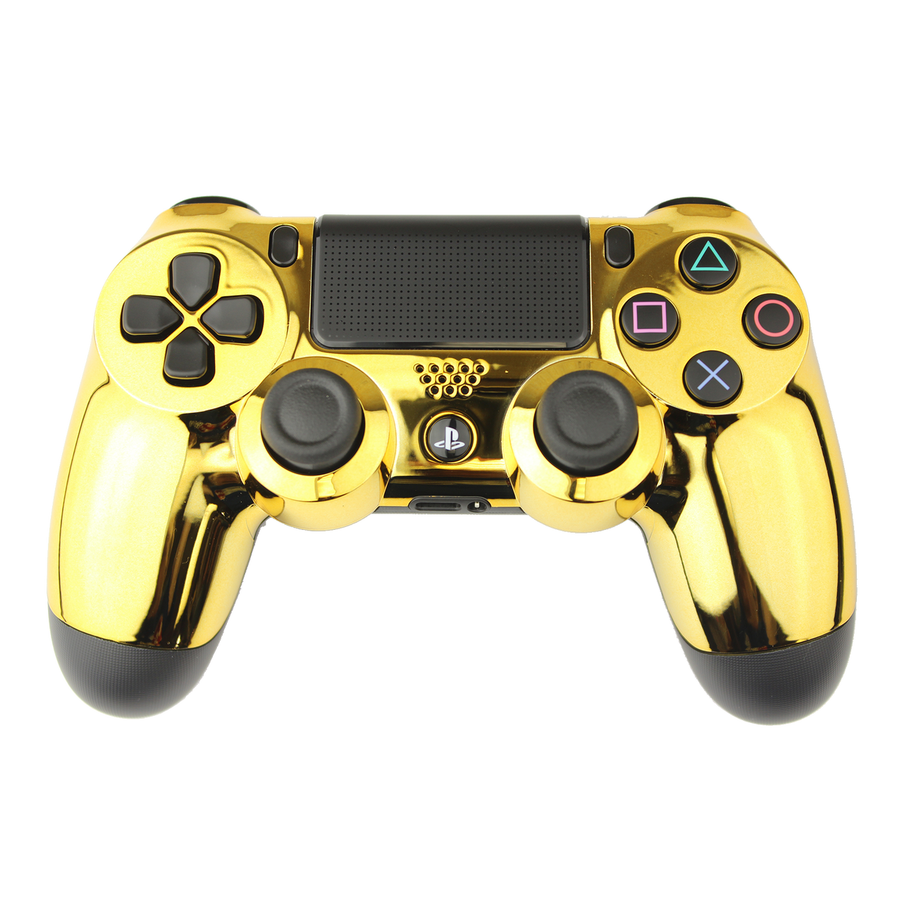 Transparent ps4 gold. Chrome rapid fire playstation