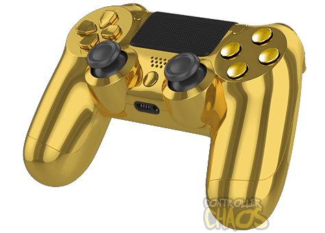 Transparent ps4 gold. Chrome edition ps modded
