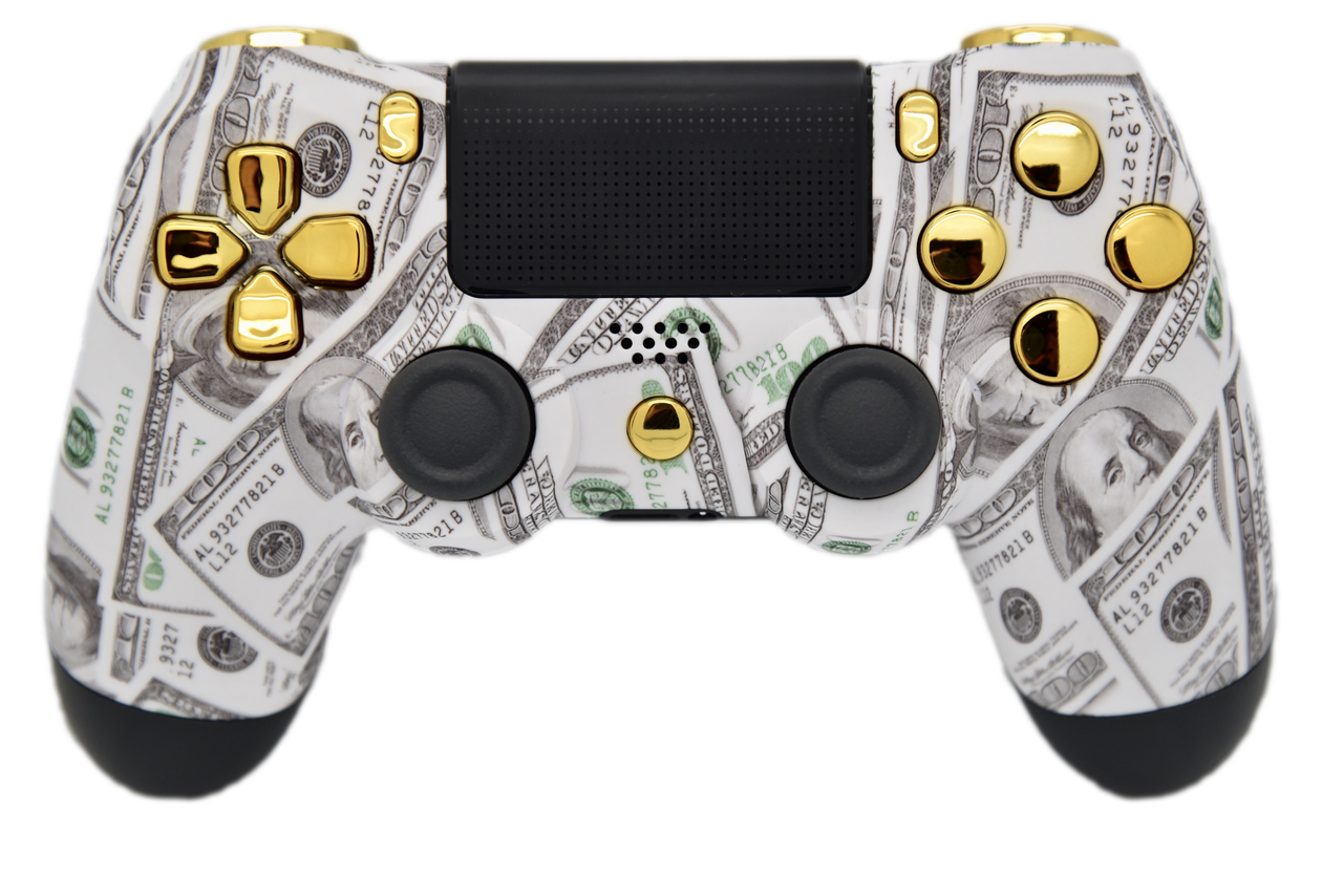 Transparent ps4 gold. Money ps controller