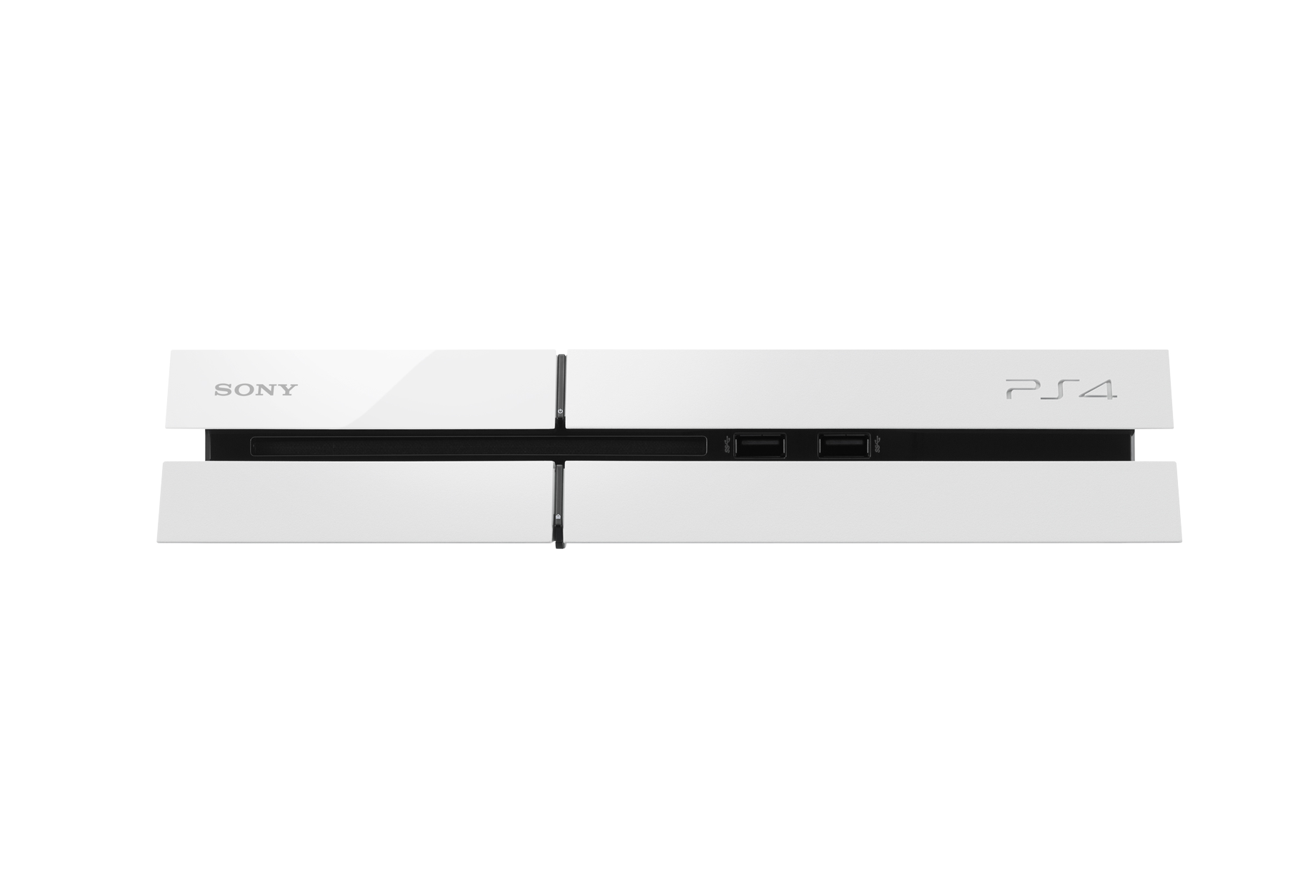 Transparent ps4 white. Ps glacier console and