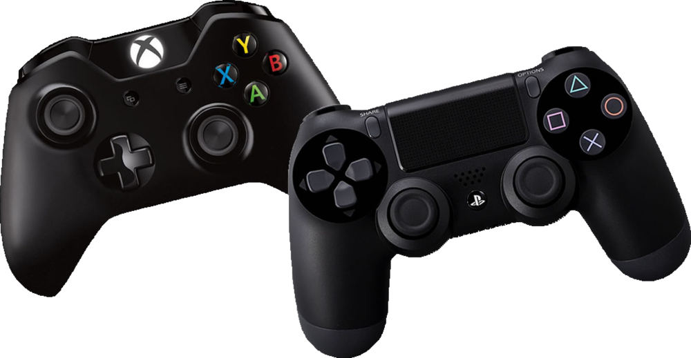 Ps controllers psd official. Transparent ps4 xbox one clipart black and white stock