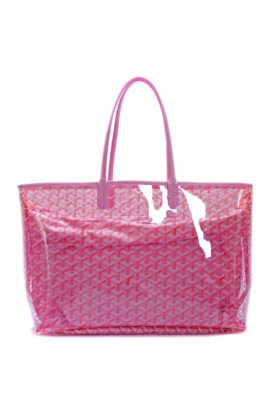 Transparent purses clear pvc. Goyard st louis tote