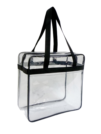 Transparent purses clear vinyl. Tote bag approved for