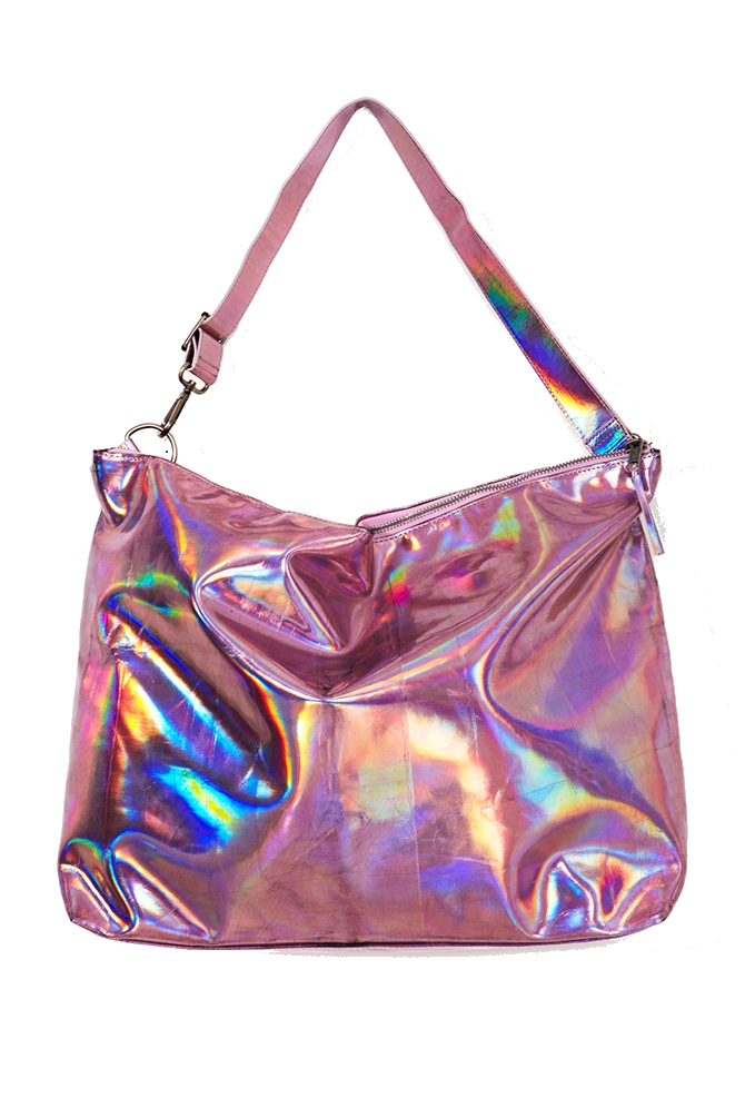 Transparent purses holographic. Accessories bags pink rainbow