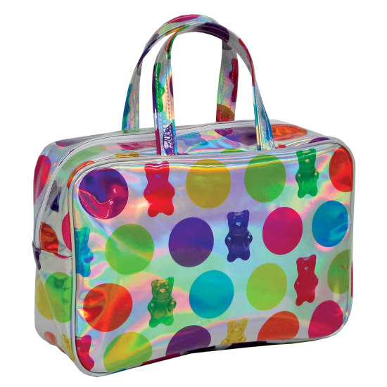 Transparent totes holographic. Gummy bears large cosmetic