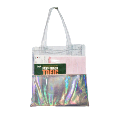 Transparent totes holographic. Bags itgirl shop tumblr