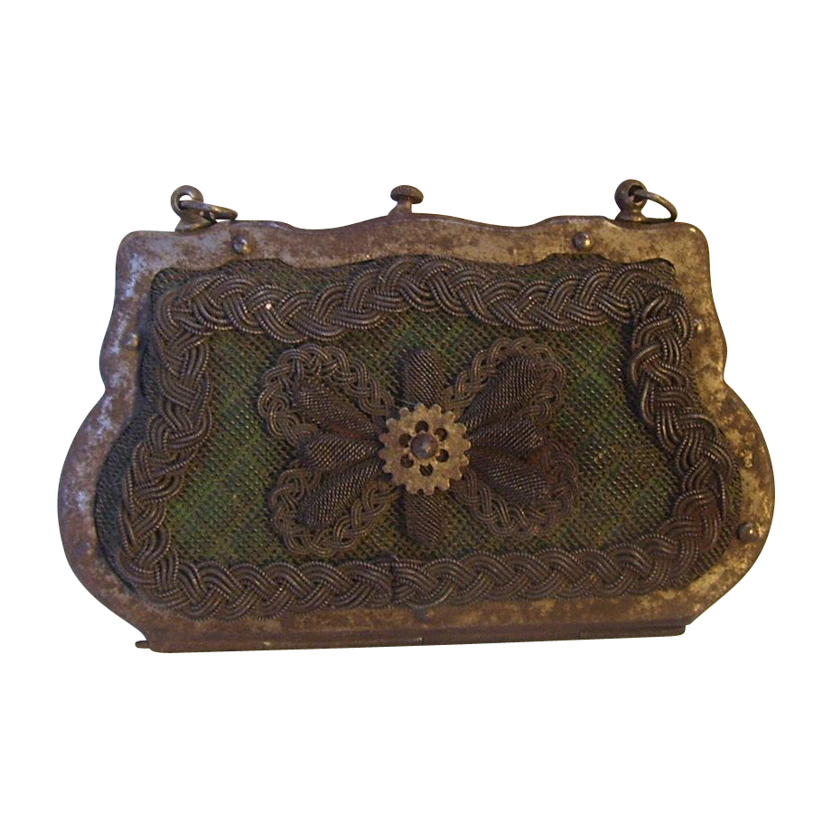Transparent purses work. Antique silesian wire purse