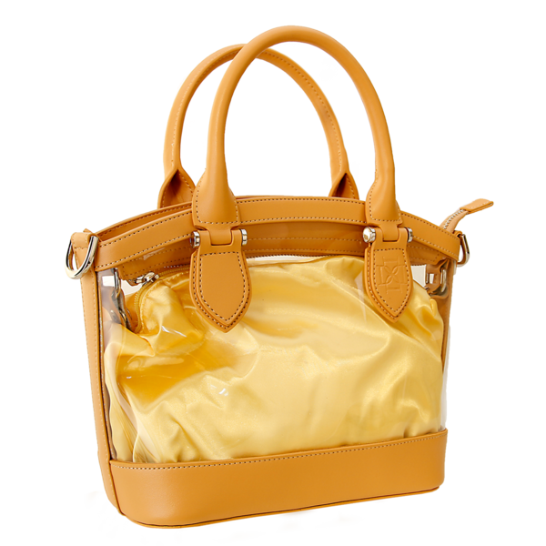Transparent purses yellow clear. D handbags leather trim