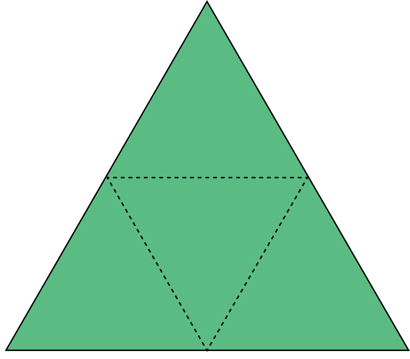 Transparent pyramid base. Triangular based facts for