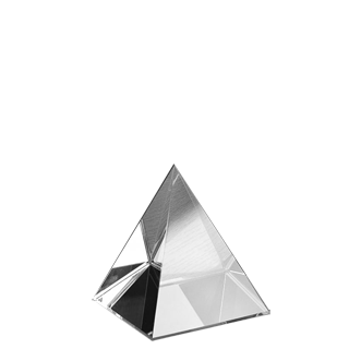 transparent pyramid crystal