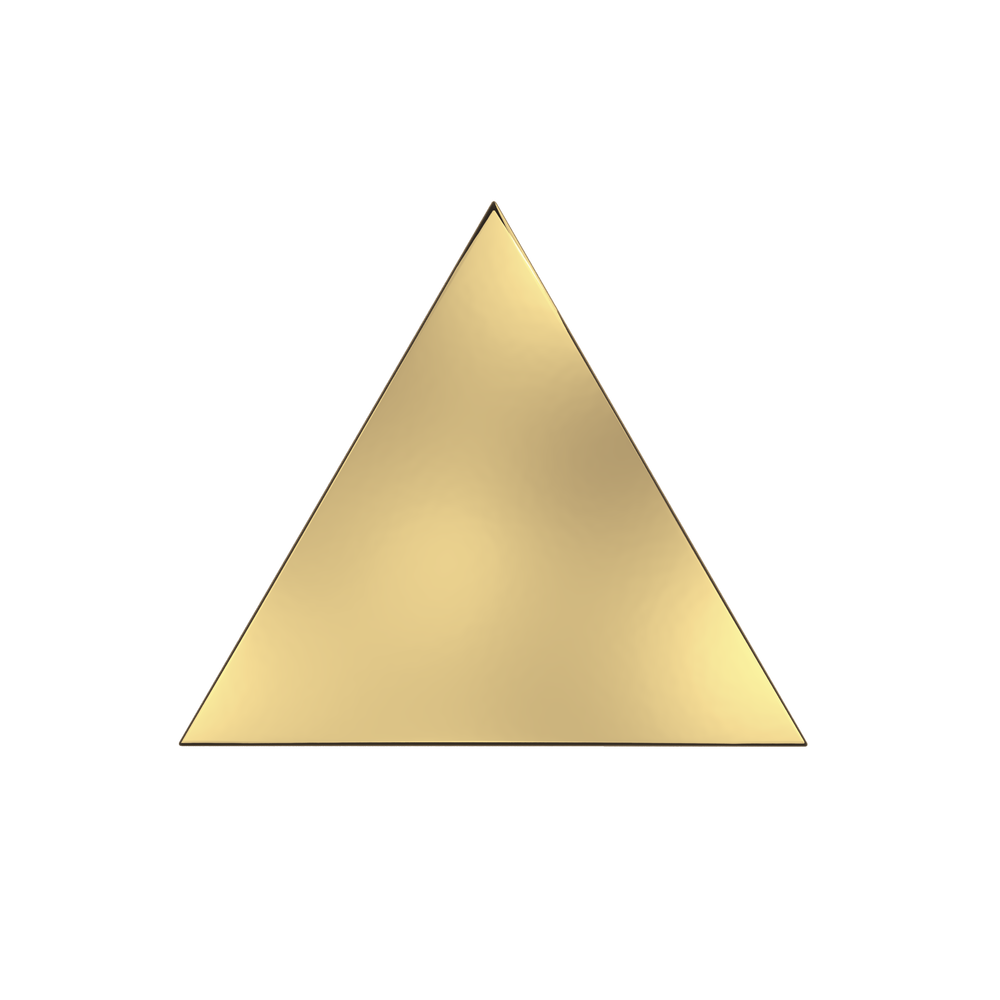 Transparent pyramid gold. Collections zyx space