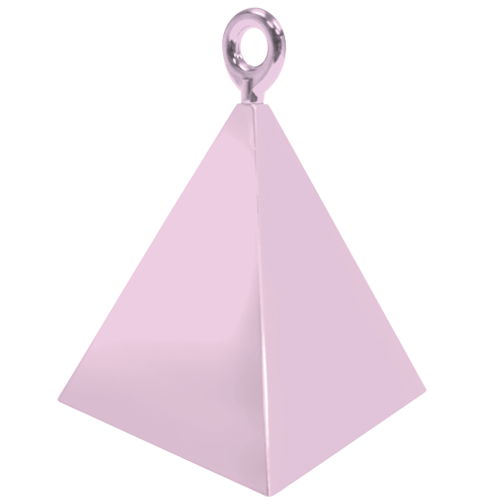 Transparent pyramid pink. Pearl weight