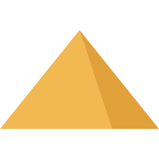 Transparent pyramid yellow. Download free png image