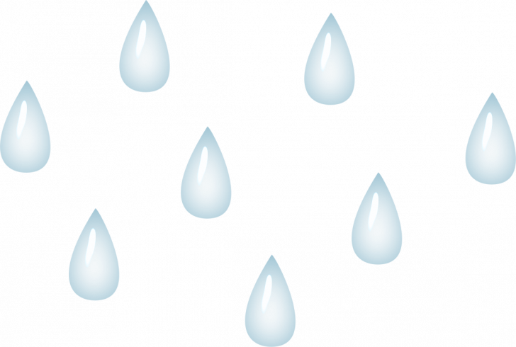 Transparent raindrops printable. Cloud coloring pages for