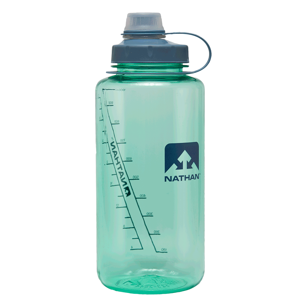 Transparent raindrop water bottle. Bigshot oz hydration nathan