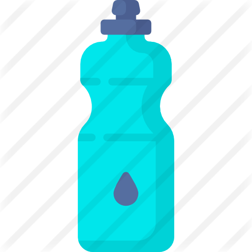 Transparent raindrop water bottle. Free food icons