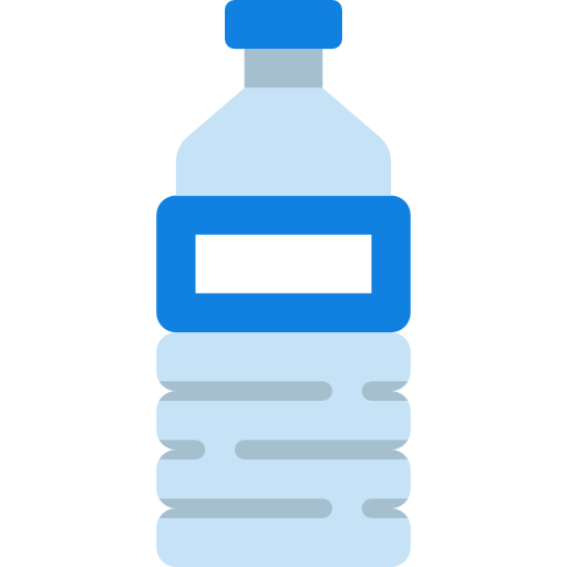 Transparent raindrop water bottle. Free food icons icon