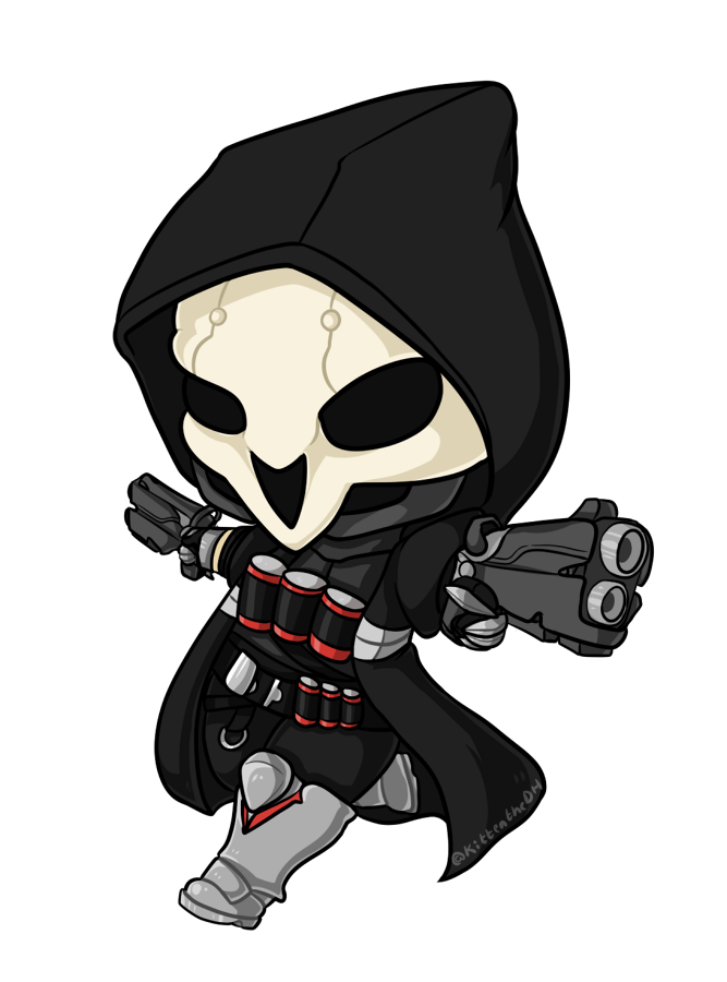 Yeezus drawing grim reaper. Chibi by xnekorux on