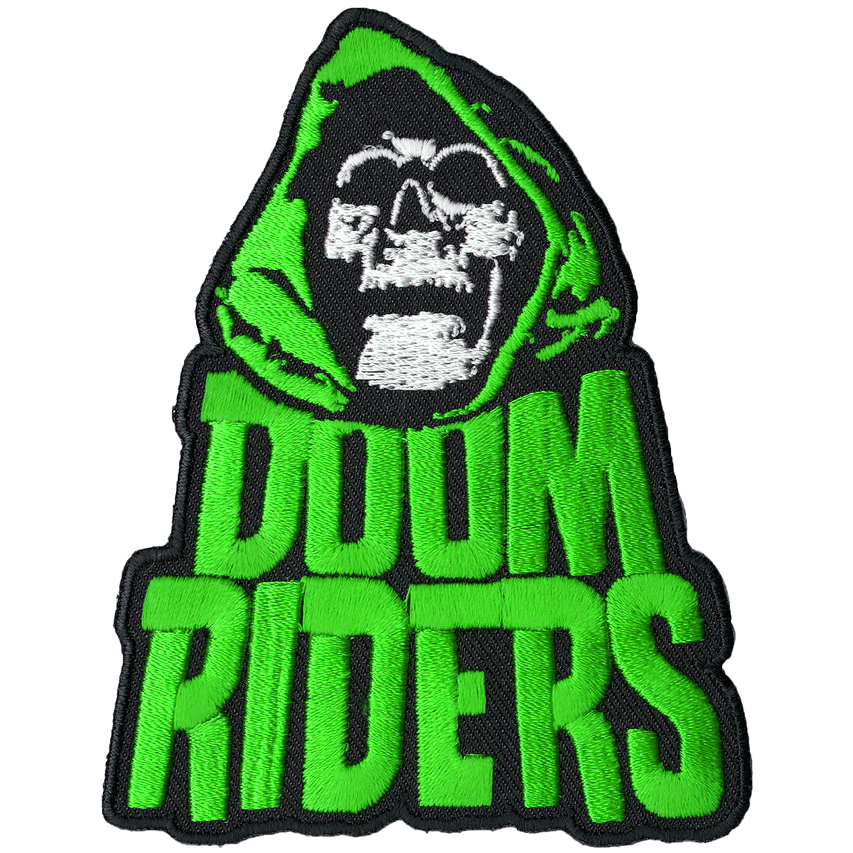 Transparent reaper greem. Doomriders green embroidered patch