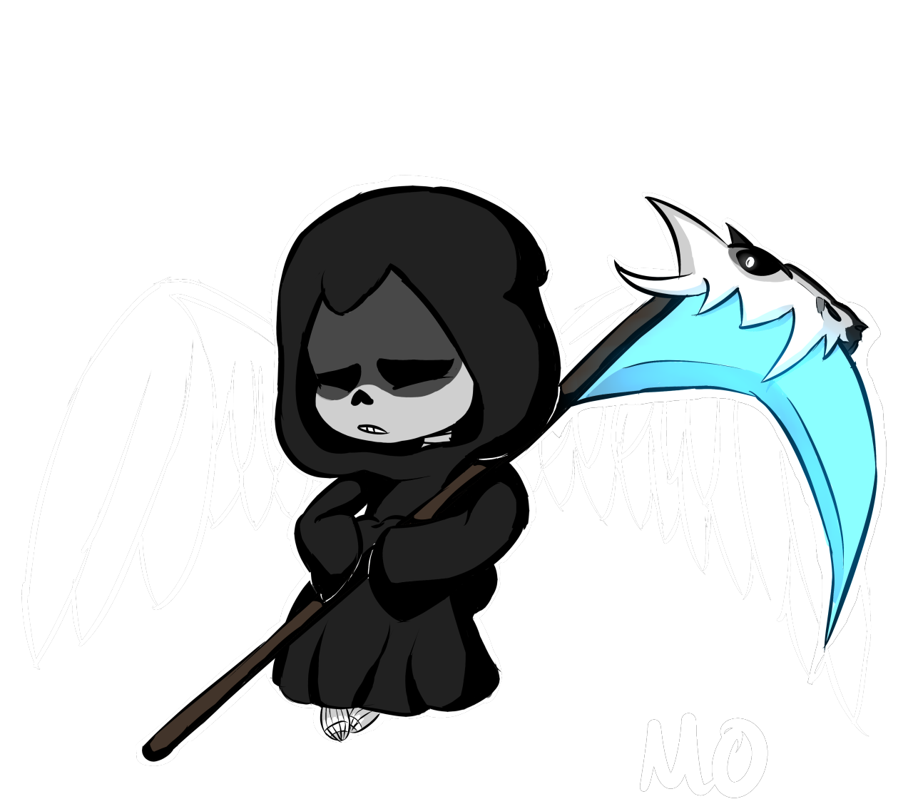 Transparent reaper sans. Always liked the thought