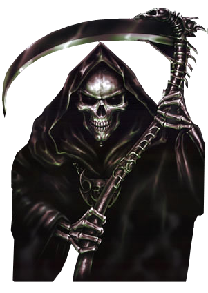 Transparent reaper render. Scary grim clipart png