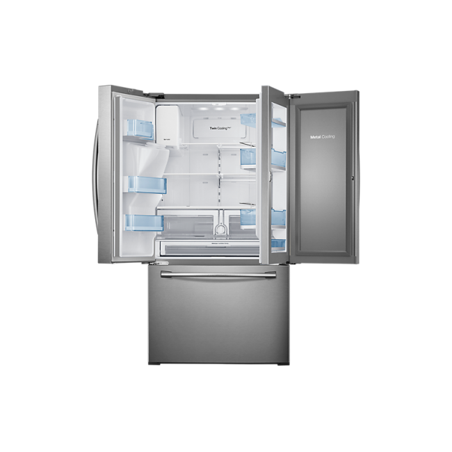 Transparent refrigerator metal. Samsung in french door