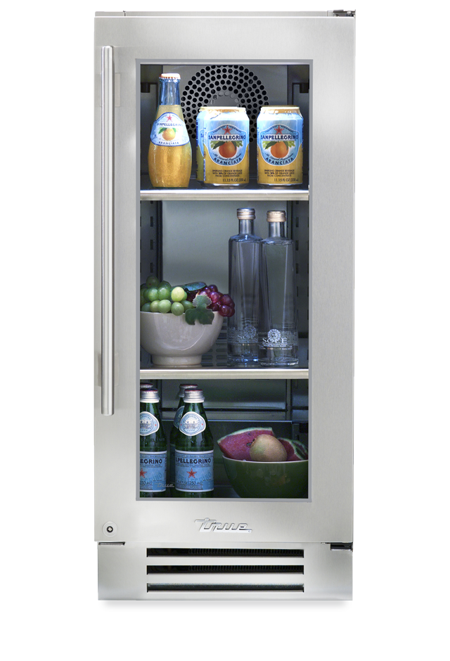 Transparent refrigerator residential. True undercounter series stainless