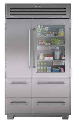 Transparent refrigerator sub. Zero appliances in milwaukee