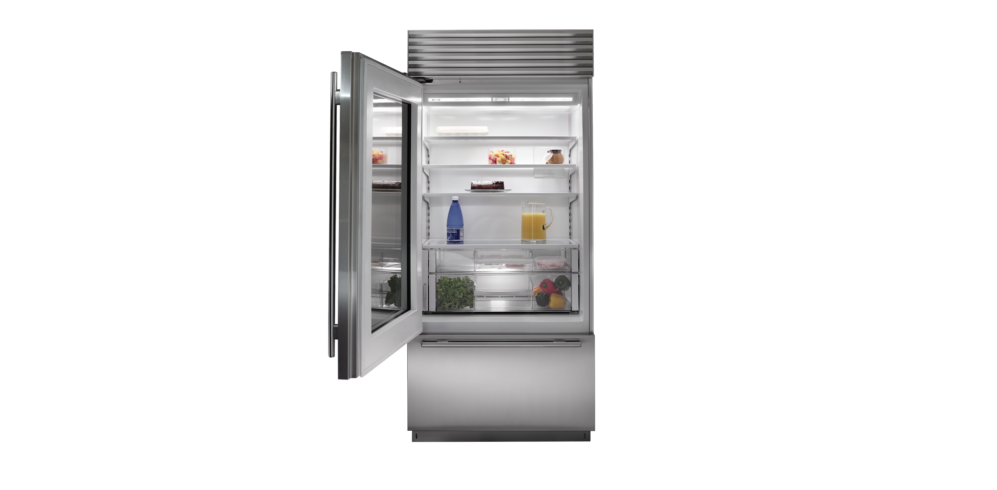 Transparent refrigerator zero. Sub appliances refrigerators ranges