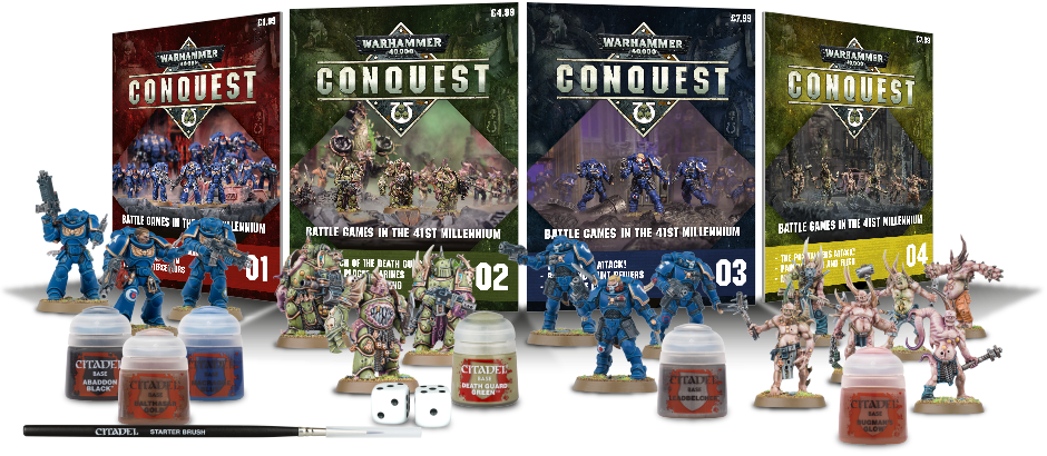 Transparent resins 40k. Warhammer conquest partwork sprues