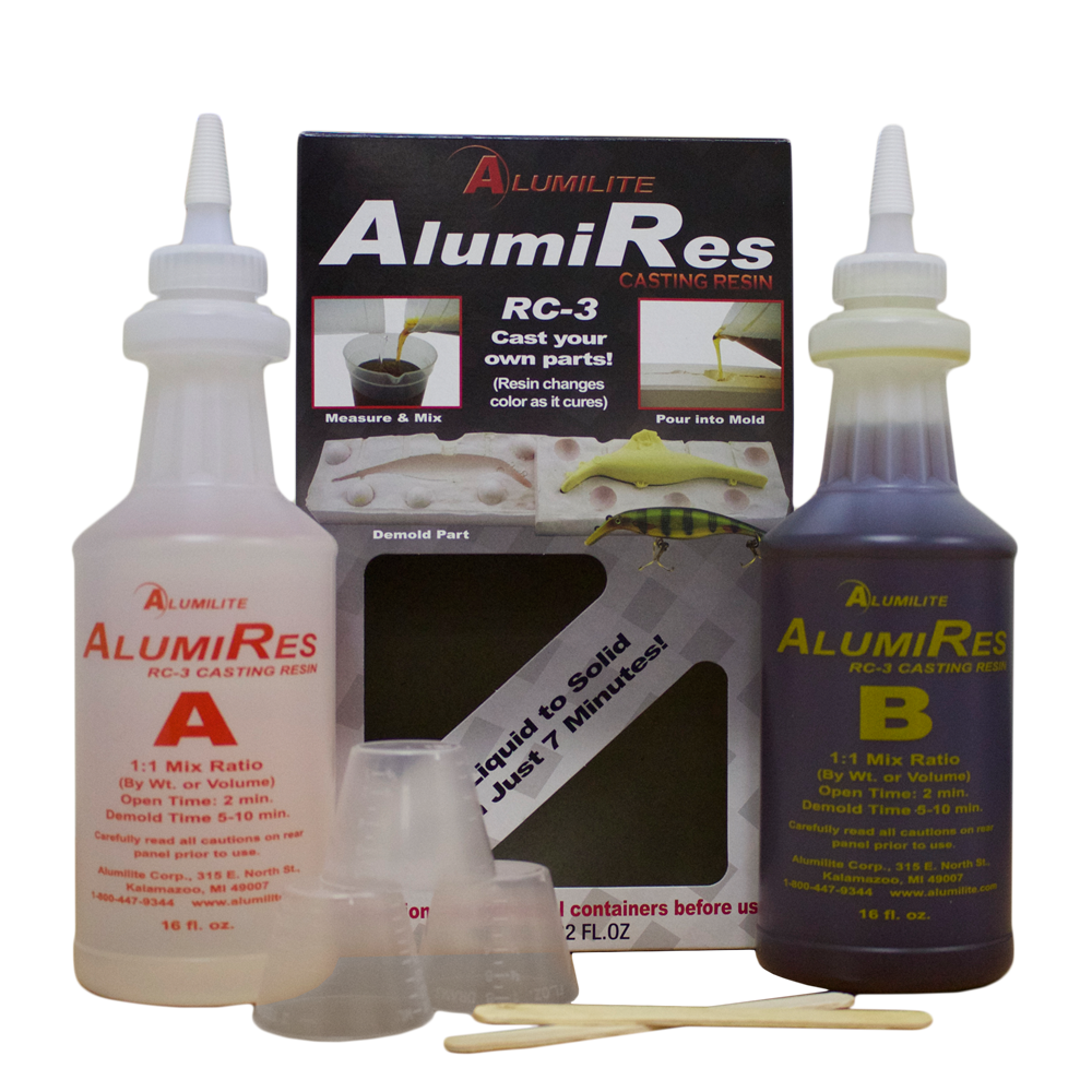 Transparent resins 40k. Alumires rc tan alumilite
