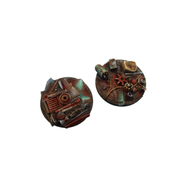 Transparent resins 40k. Scrapyard bases flying mm