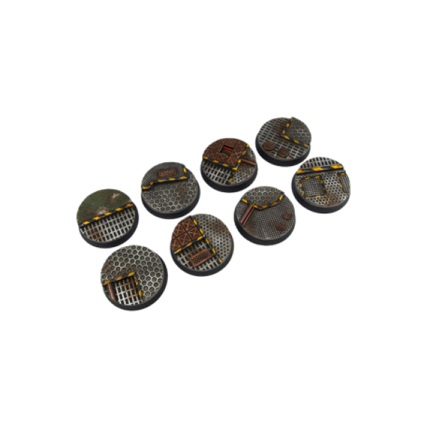 Transparent resins 40k. Tech bases round mm