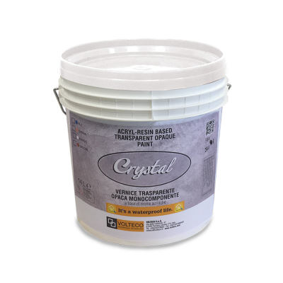 Transparent resins acrylic paint. Crystal solvent free single