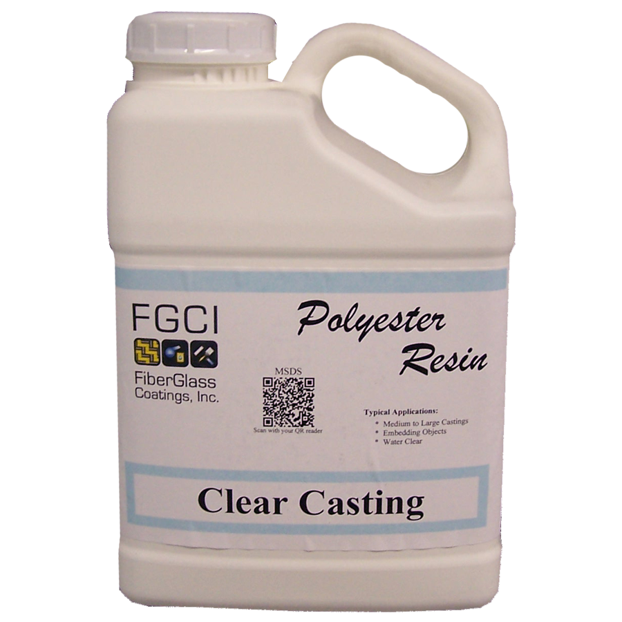 Transparent resins polyester. Clear casting resin gl