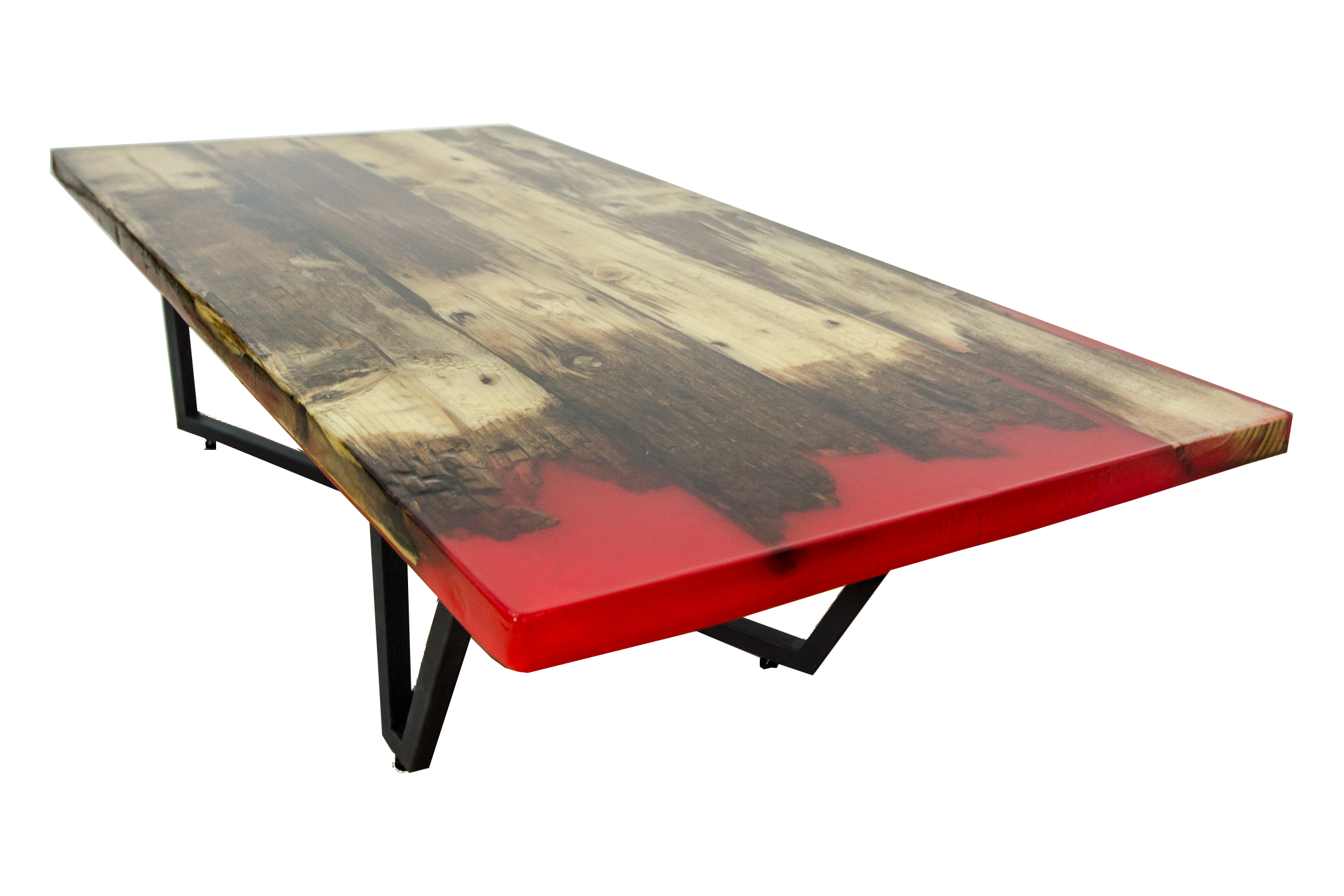 Transparent resins wood. Eclipse coffee table slendertree