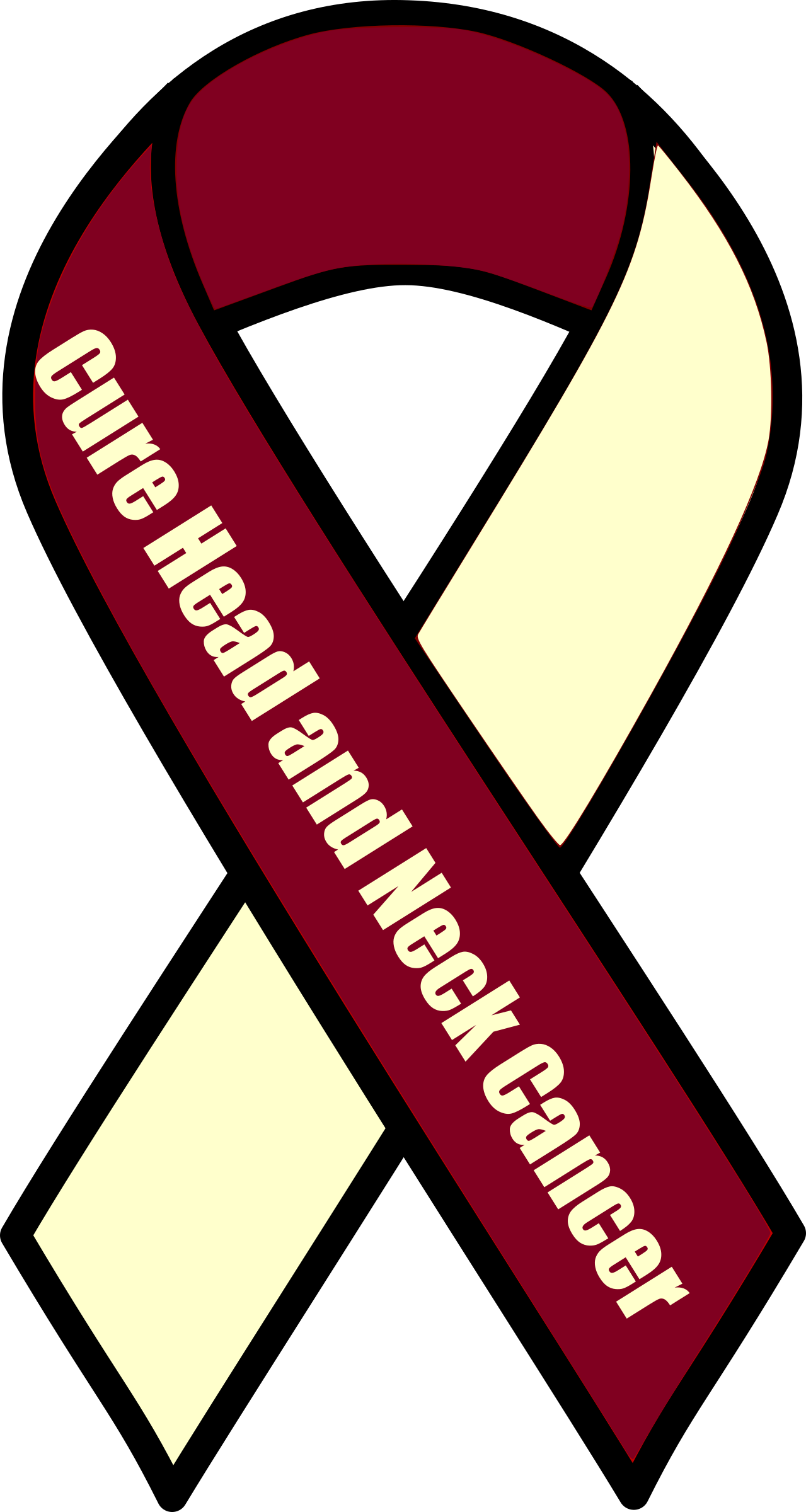 Transparent ribbons head. Clipart cure and neck