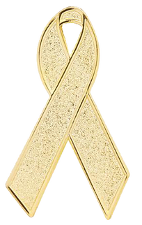 Transparent ribbons message. Gold ribbon little fighters