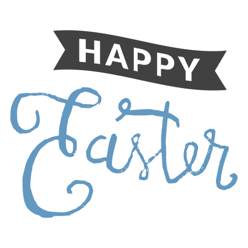 Transparent ribbons message. Happy easter ribbon png