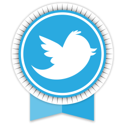 Transparent ribbons round. Twitter ribbon icon download