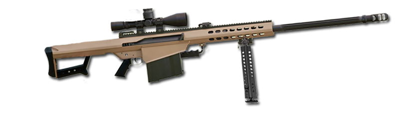 Transparent rifle 50 cal sniper. Win a barrett but