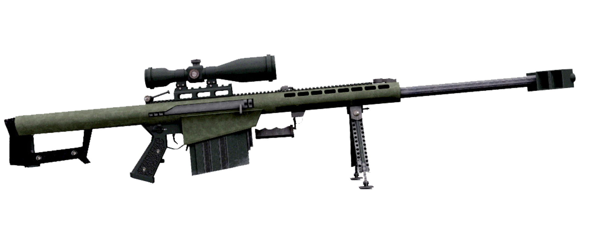 Transparent rifle 50 cal sniper. Barrett m assault bmg