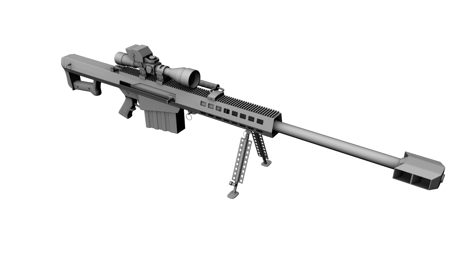 Transparent rifle 50 cal sniper. Png
