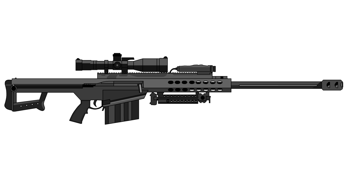 Transparent rifle 50 cal sniper. Barrett google search pew