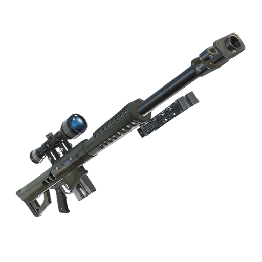 Transparent rifle 50 cal sniper. New could be added