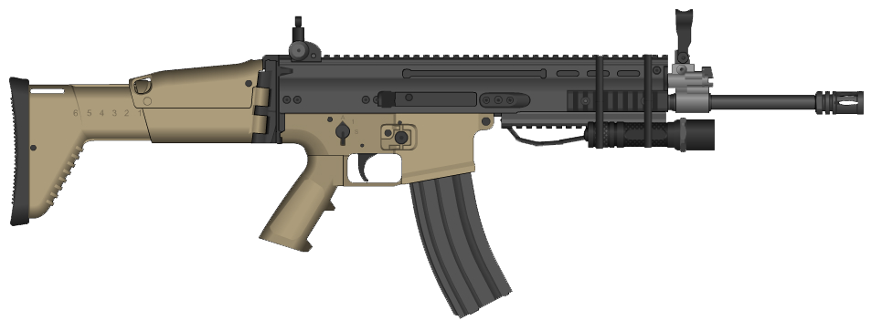 Transparent rifle scar h. Combat l d by