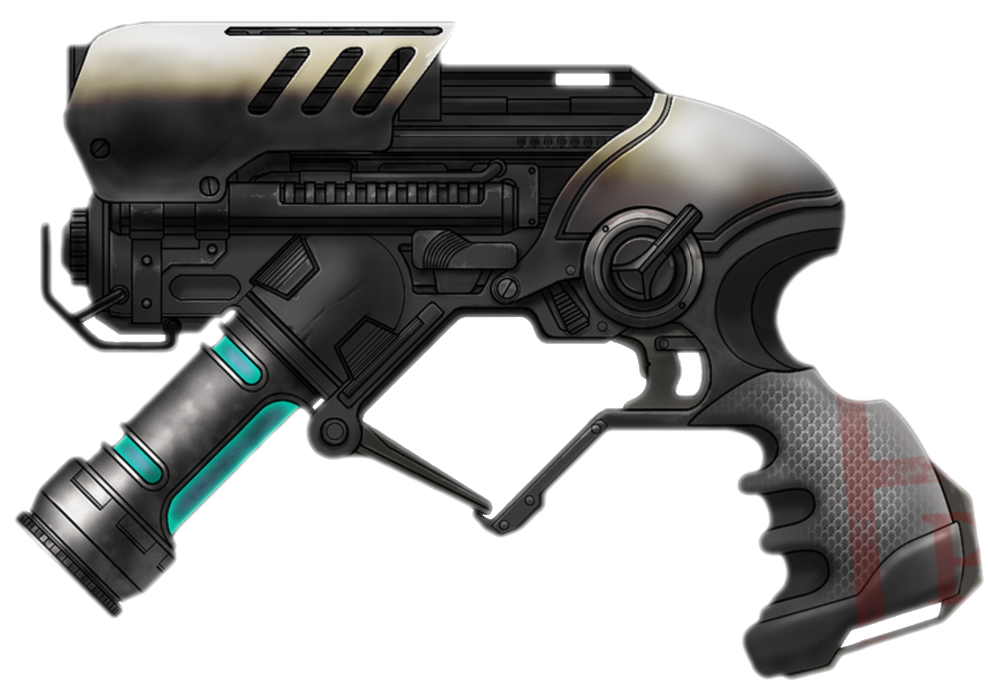 Transparent rifle sci fi. Image freeze gun png