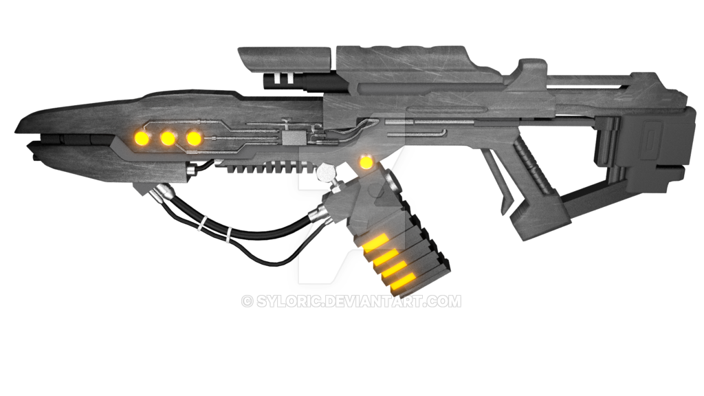 Transparent rifle sci fi. Excalibur gun by syloric